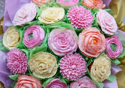 19 cake bouquet pinks-peach-gold