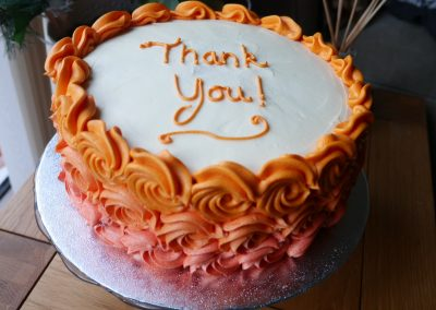 Orange Thank You cake